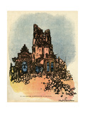 German Architecture Giclee Print by Abel Faivre