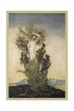 Daphne into Tree Giclee Print by Arthur Rackham