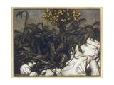 Dragon of Hesperides Wydruk giclee autor Arthur Rackham