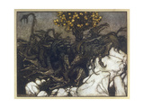 Dragon of Hesperides Giclee Print by Arthur Rackham