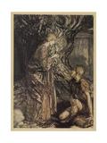 Siegmund and Sieglinde Gicléetryck av Arthur Rackham