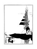 A Platonic Lament Premium Giclee Print by Aubrey Beardsley