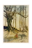Rackham, Red R.H. and Wolf Giclee Print by Arthur Rackham