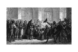 Civics at Notre-Dame Giclee Print by Ary Scheffer