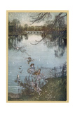 At the Serpentine Giclee Print by Arthur Rackham