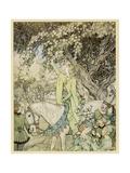 Arthurian, Guinevere Giclee Print by Arthur Rackham