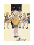 Children in a Classroom Giclee Print by Anne Anderson