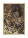 Wagner, Ring, Dragon Giclee Print by Arthur Rackham