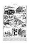 Paris, France - Satirical Comments on Street Dangers Giclee Print by A. Robida