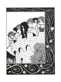 Illustration to Morte D'Arthur Premium Giclee Print by Aubrey Beardsley
