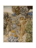 Nymphs (Tempest) Giclee Print by Arthur Rackham