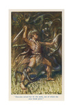 Herakles Versus Hydra Giclee Print by Arthur Rackham