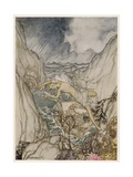 The Tempest, Ariel Giclee Print by Arthur Rackham