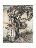 Prince into Tree Premium Giclee Print by Arthur Rackham