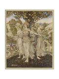 The Hesperides Giclee Print by Arthur Rackham