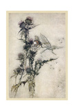 Fairy and Bee Giclee Print by Arthur Rackham