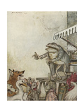 Aesop, Frog Physician Giclee Print by Arthur Rackham