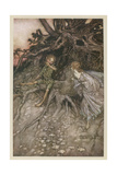 Shakespeare, Puck, Fairy Gicléetryck av Arthur Rackham