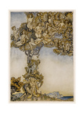 Tempest, Instruments Giclee Print by Arthur Rackham
