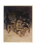 Youth Who Could Not Shudder Giclee Print by Arthur Rackham