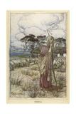 Winters Tale - Perdita Giclee Print by Arthur Rackham