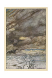 The Ravens of Wotan Impression giclée par Arthur Rackham