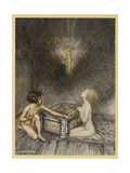 Pandora and Hope Premium Giclee Print by Arthur Rackham