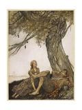 Aesop, Travellers, Tree Giclee Print by Arthur Rackham