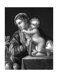 Mary and Jesus Giclee Print by Annibale Carracci