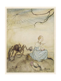 Miss Muffet, Mother Goose Giclee Print by Arthur Rackham