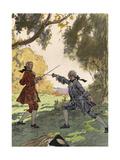 Casanova, Leroux, Fights Giclee Print by Auguste Leroux