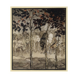 The Enchanted Cave Giclee Print by Arthur Rackham