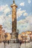 Piazza Colonna, Rome Photographic Print by Alberto Pisa
