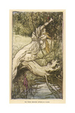 Ophelia in Distress Giclee Print by Arthur Rackham