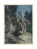 Midsummer Nights Dream Giclée-tryk af Arthur Rackham
