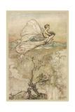 Fairies Steal a Child Gicléetryck av Arthur Rackham