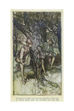 Ayli: Orlando,Rosalind Giclee Print by Arthur Rackham