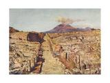 Via Stabia - Pompeii Giclee Print by Alberto Pisa