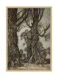 Fairy Lantern Bearers Giclee Print by Arthur Rackham