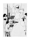 The Toilette of Salome Premium Giclee Print by Aubrey Beardsley