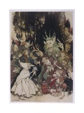 The King of the Trolls Giclee Print by Arthur Rackham