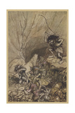 Alberich and Nibelungs Giclee Print by Arthur Rackham