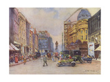 Manchester, St Anns Sq Giclee Print by Albert Woods