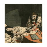 Doctor Risking Own Life Giclee Print by Andre Galland
