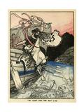 Arion of Methymna Leaping into the Sea Gicléedruk van Arthur Rackham