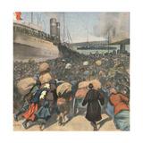 1920, Sebastopol Evacuate Giclee Print by Andre Galland