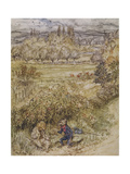 Wind in the Willows Premium Giclee Print by Arthur Rackham