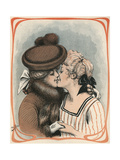 Two Women Kiss Giclee Print by Axel Thiess