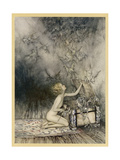 Pandora and Her Box Premium Giclee Print by Arthur Rackham