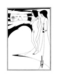 The Woman in the Moon Premium Giclee Print by Aubrey Beardsley